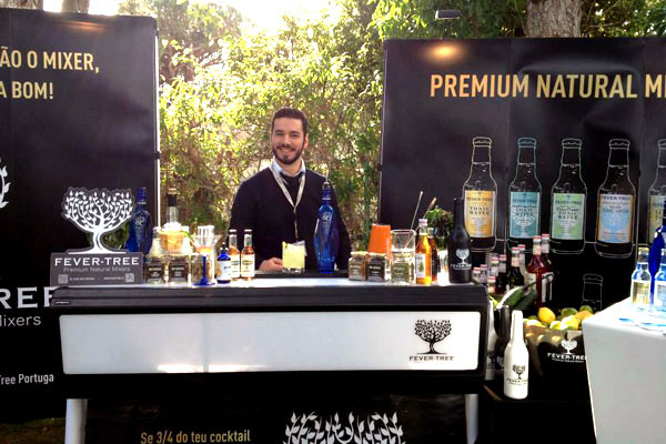 A Justincase mobile bar at a Fever Tree event in Portugal