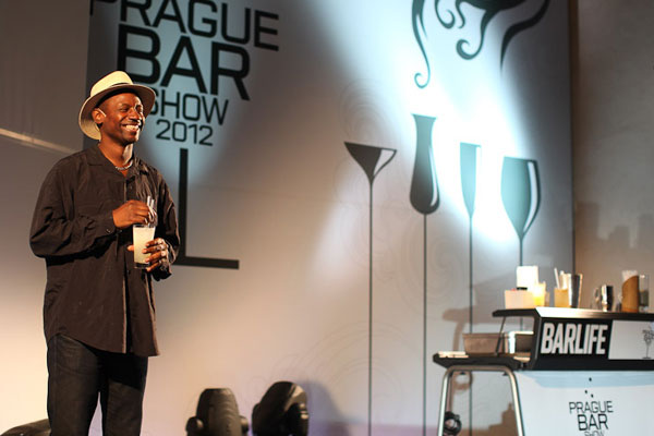 Ian Burrell pitching at the Prague Bar Show 2012