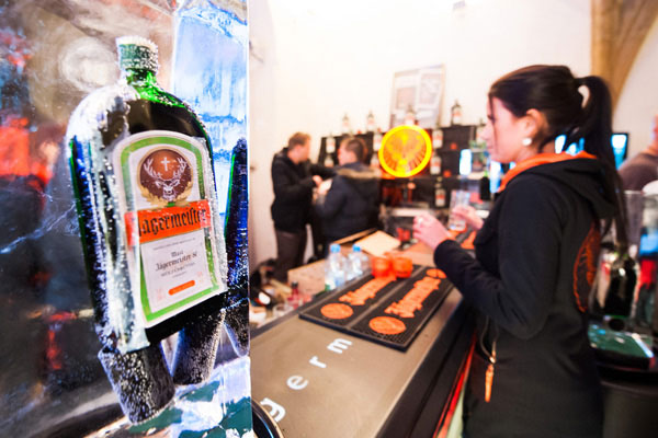 Jaegermeister bar at the Prague Bar Show