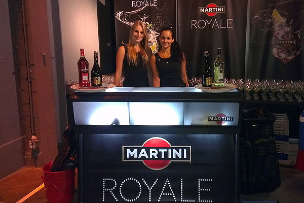 The Martini Royale JUSTINCASE bar at an event in Switzerland
