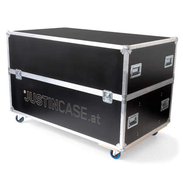 Flight case for the Justincase mobile bar system that comes in two sizes, for one or two portable bar units