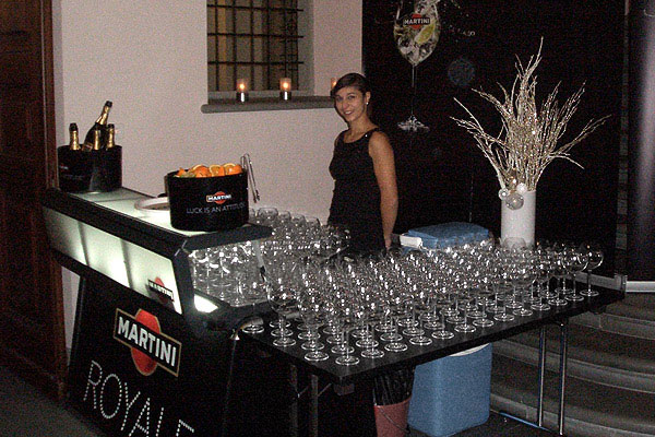 Martini Royale portable bar at an event in Switzerland